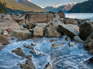 The breaking of rock through the action of ice is a form of physical weathering. Photo: James Wheeler (www.flickr.com).