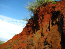 Soil, Basalt, Tropical soil, soil profile, red soils, Maracaí, Brazil.