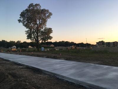 Sidewalk under construction.
