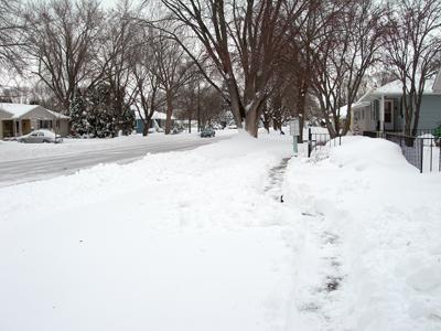 Unshoveled sidewalk