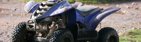 blue all terrain vehicle