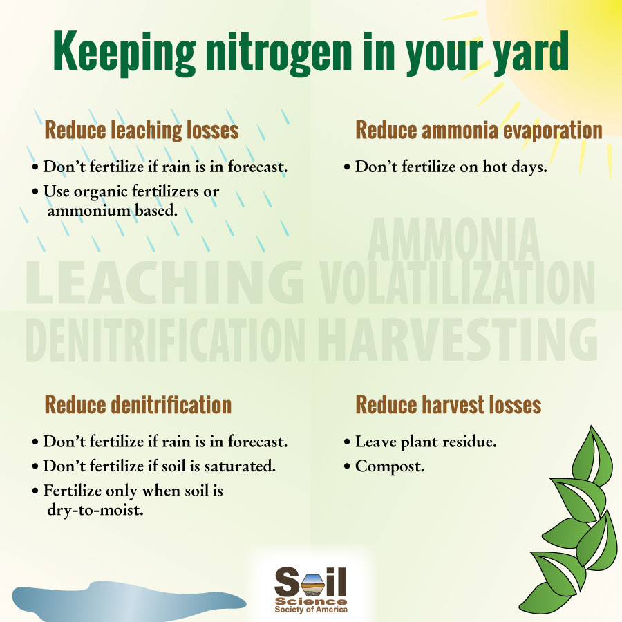 How do I keep more of the nitrogen in my soil? | Soils