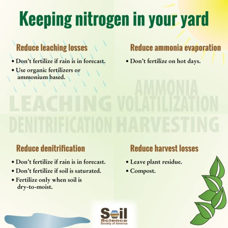 infographic about keeping nitrogen in your yard