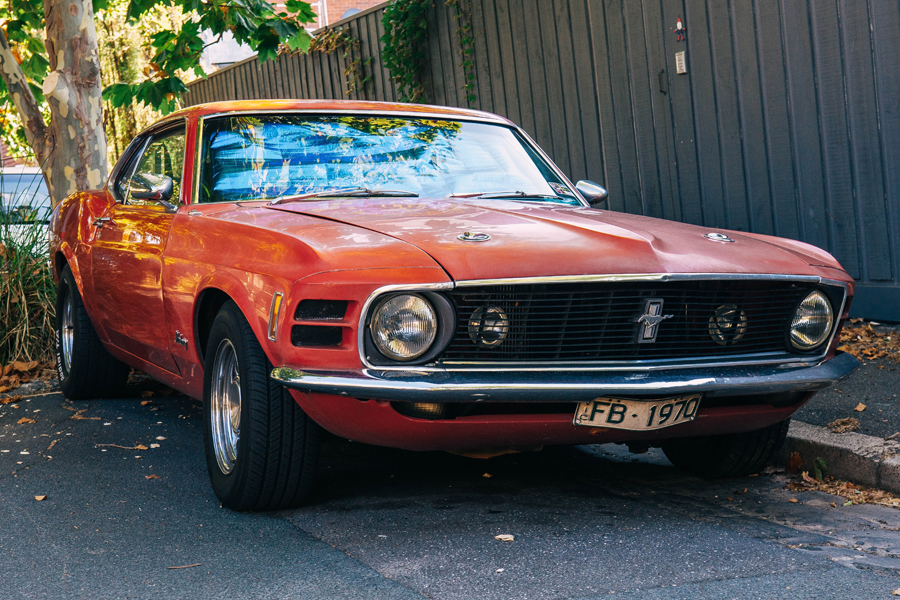 Late 60s vintage mustang