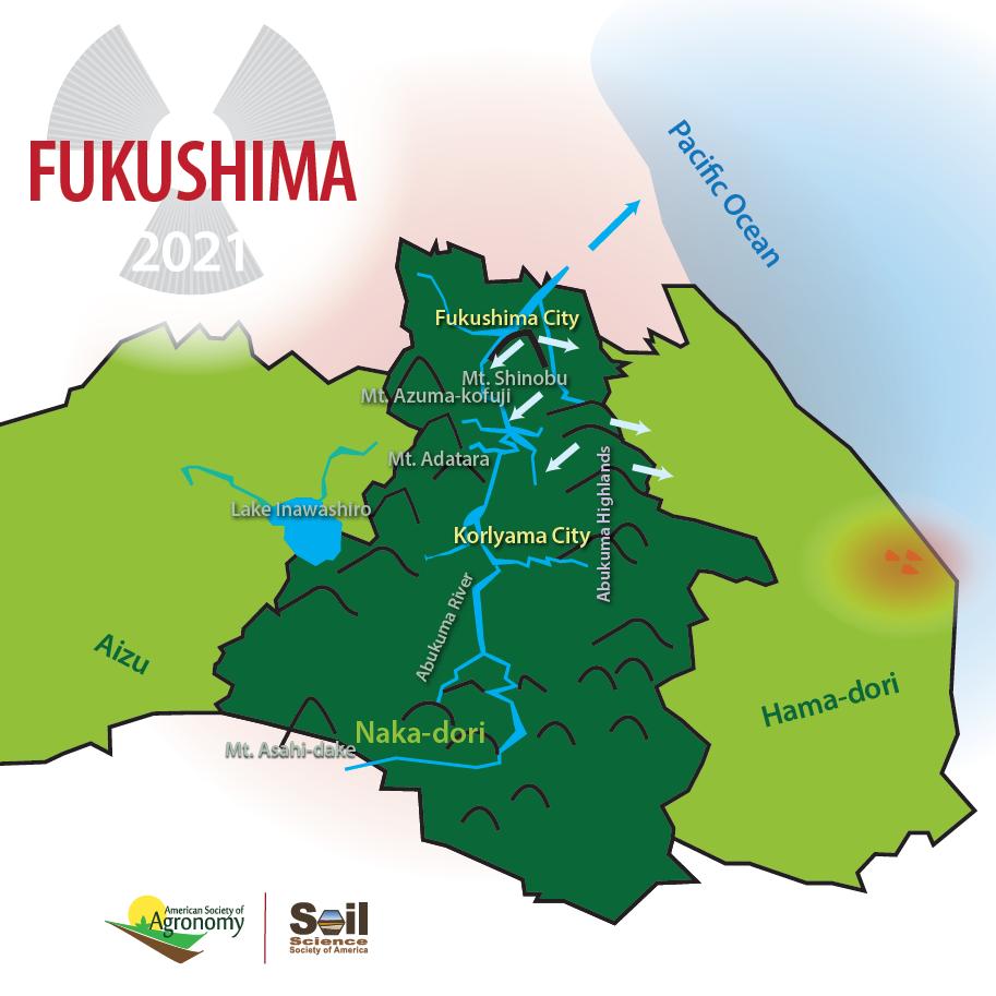 map of Fukushima